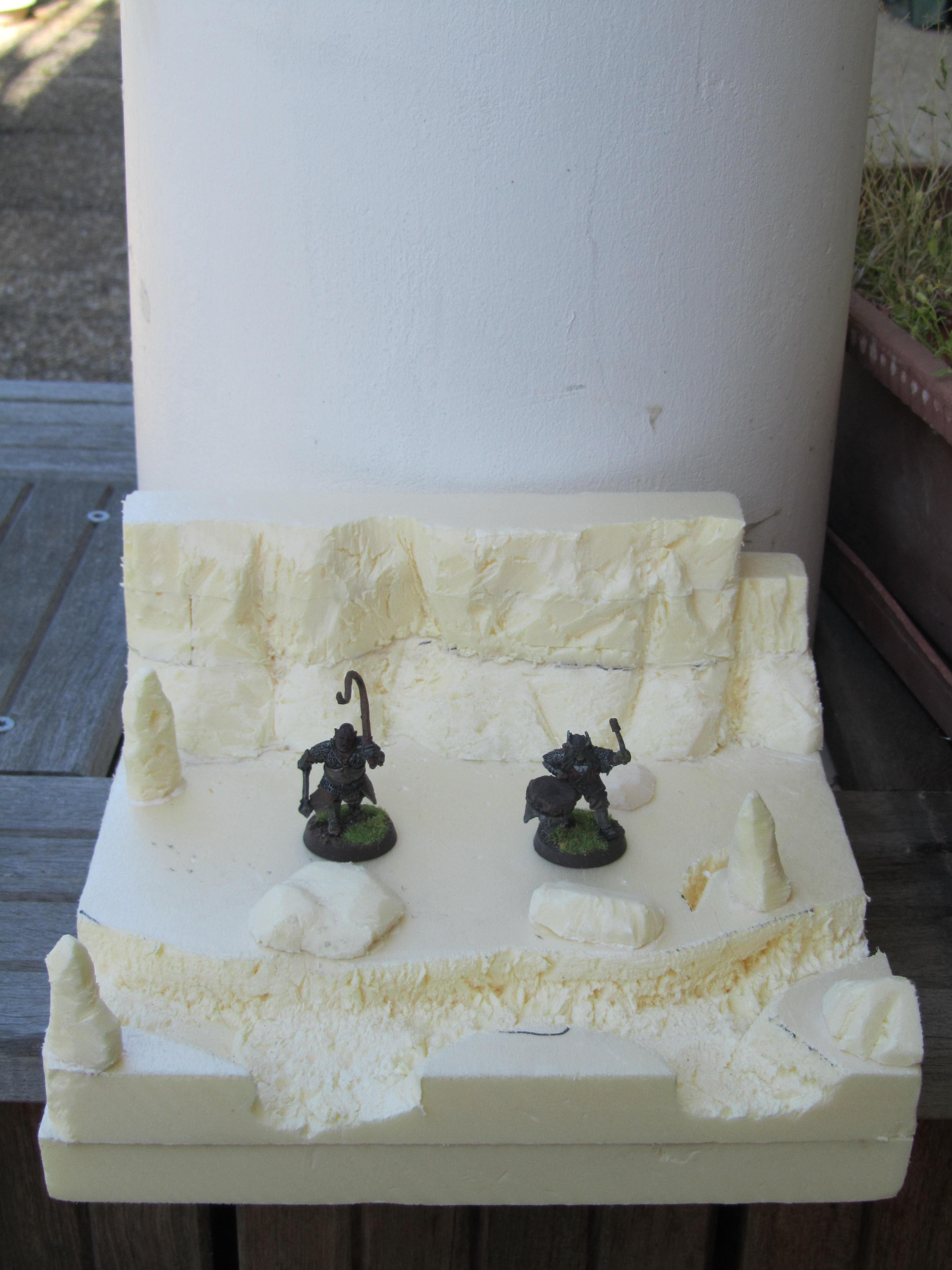 Dioramas du mordor pour photos 2012 - Sous couche polystyrene extrude ...